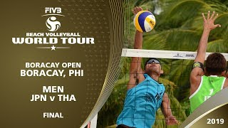 Men's Final - JPN v THA - FIVB Beach Volleyball World Tour - Boracay (PHI) - 1* thumbnail