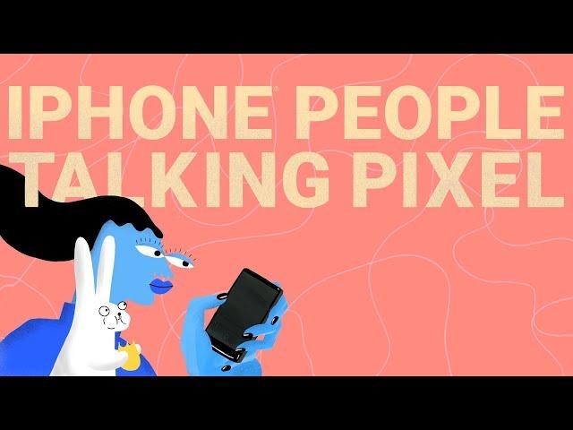 iPhone People Talking Pixel