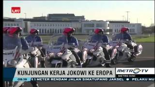 Disambut Keluarga Kerajaan Belgia, Presiden Jokowi Dikawal Heli Hingga ke Hotel
