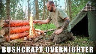 Bushcraft Overnighter: Lavvu Shelter, Bannock, Flint & Steel, Fire Reflector