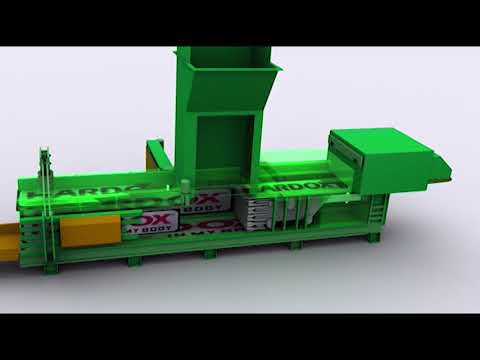 Waste baler for Municipal Solid Waste MAC 112: baling and wrapping in Amsa, Milan, Italy
