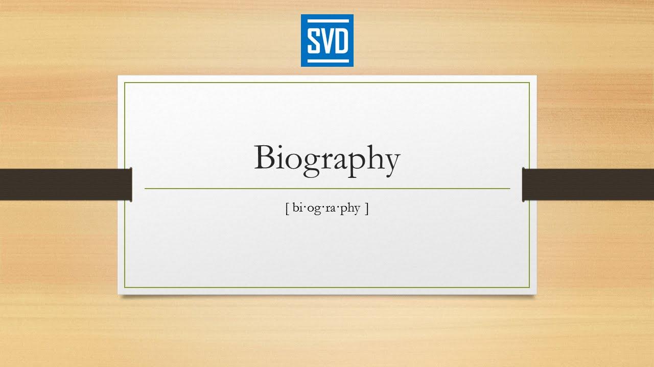 Biography  Definition Meaning Pronunciation Origin