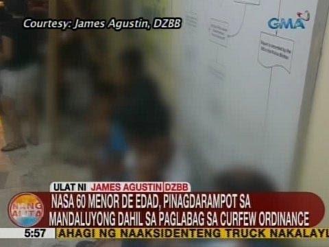 UB: Nasa 60 menor de edad, pinagdarampot sa Mandaluyong dahil sa paglabag sa curfew ordinance