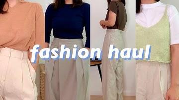[안보면 후회할 여름 패션하울] 심플한 티셔츠와 멋있는 바지 하울 👕🩳 디자이너브랜드 집합 | 키작녀 바지추천| 여자패션| SUMMER OUTFIT HAUL TRY-ON