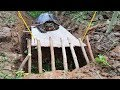 Amazing Turtle Trap With Deep Hole by Little Boy in Jungle - How to Trap Turtles That Works 100%