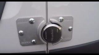 "How to Install Master Lock 9"" Silver Steel Hidden Shackle Keyed Padlock 6270KA on a Service Van"