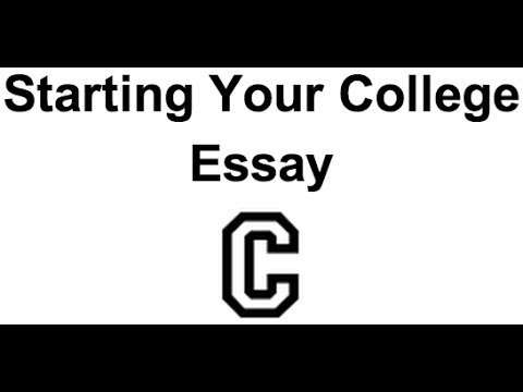 5 Steps to Starting Your College Essay