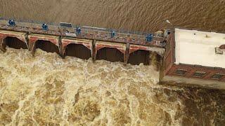 The dam at Sanford Lake