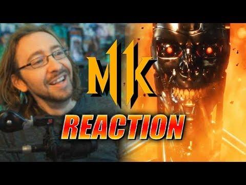 MAX REACTS: Terminator - Gameplay Trailer (Mortal Kombat 11)