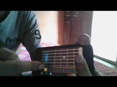 Haye mera dil Instrumental using phone guitar