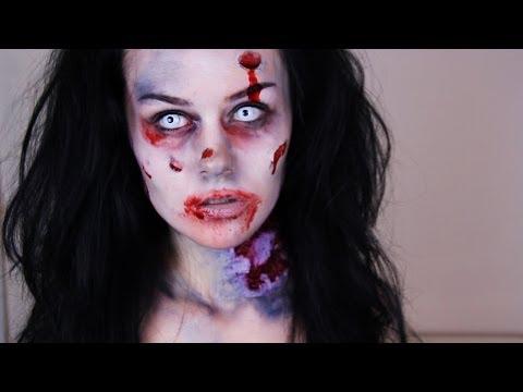 Halloween Zombie Schmink.Zombie Makeup Tutorial How To Do Easy Zombie Makeup Youtube