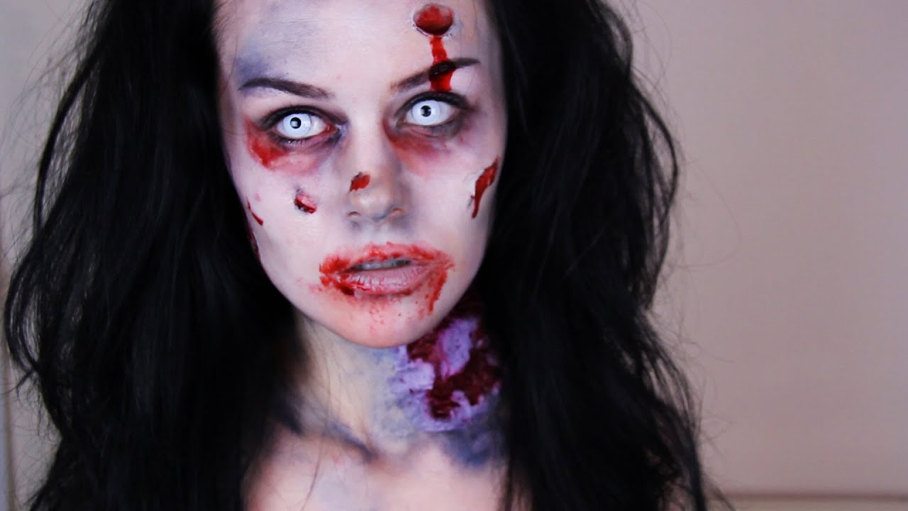Zombie Makeup Tutorial -- How To Do Easy Zombie Makeup ...