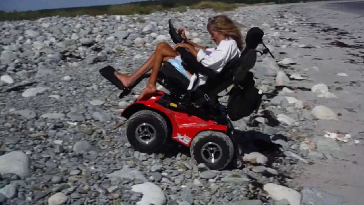 x8 wheelchair upholstered counter height chair extreme scooter climing rocks youtube