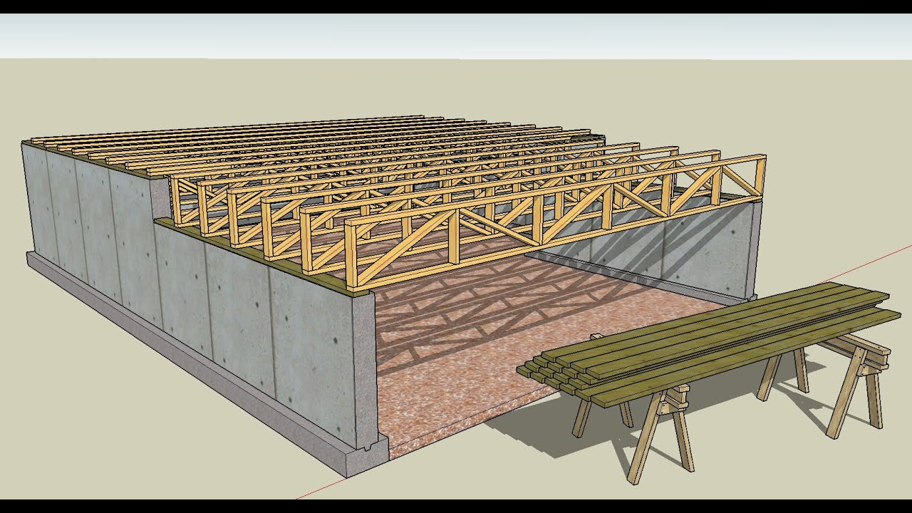 Part 7 how to draw floor trusses and foundations youtube for Web floor truss
