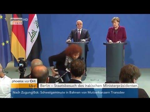 Staatsbesuch: Pressekonferenz  von Angela Merkel und Haider al-Abadi am 11.02.2016