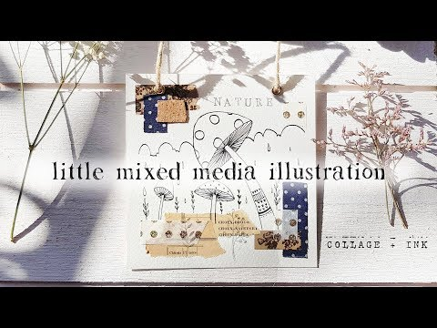 A Mixed Media Illustration | Time Lapse Collage & Drawing