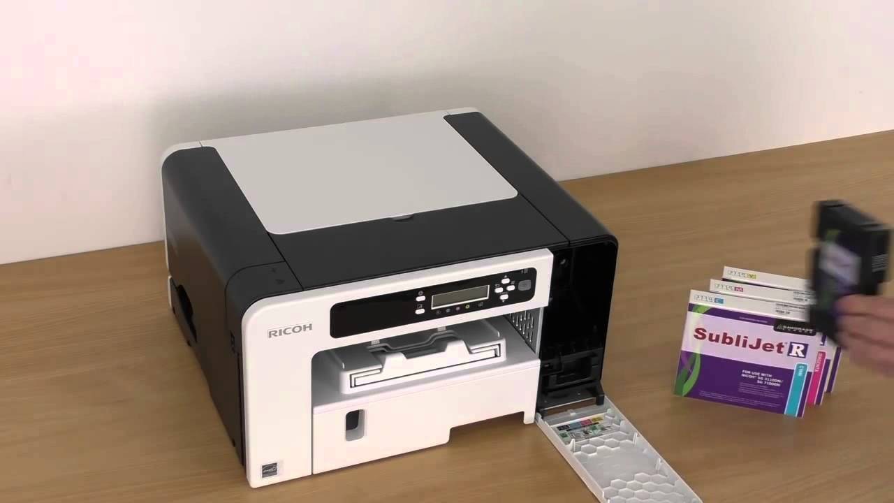 Ricoh SG 3110 7100DN Printer Installation for Sublimation Printing
