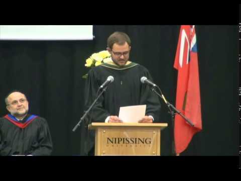 Nipissing University Convocation Ceremony 2015 - Valedictorian Speech