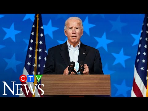 Joe Biden is on the verge of winning the presidency, will address nation from Delaware