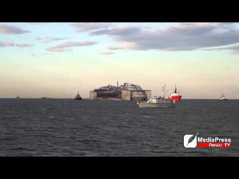 Costa Concordia back to Genoa Making