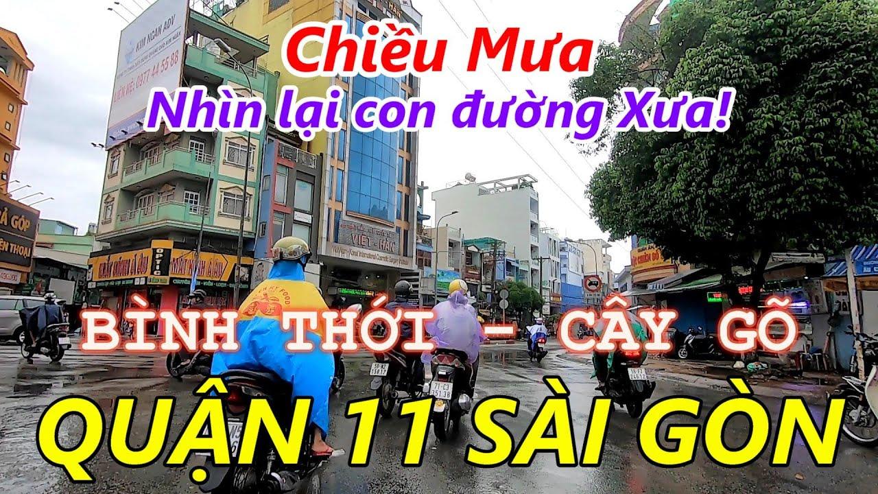 Chiều Mưa Bão Đường BÌNH THỚI và Bồn Binh CÂY GÕ Sài Gòn