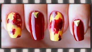Абстрактный маникюр Осень 2015. Осенний дизайн ногтей | Autumn Nail Art