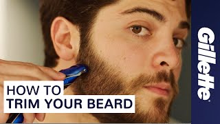 How to Trim Your Beard: Beard Grooming Tips | Gillette STYLER thumbnail