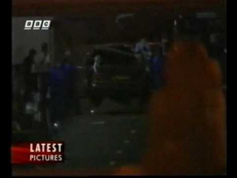 Princess Diana's car crash,  BBC rolling news footage.