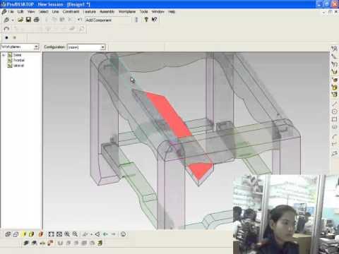 การใช้โปรแกรม ProDESKTOP สร้างชิ้นงานประกอบโต๊ะหมู่