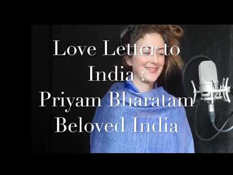 Best sanskrit song by foreigner!! Must listen !! Spain train singing!! Priyam Bharatam