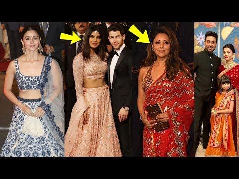 Priyanka Nick, Alia Bhatt , Bachchans ,Sachin Tendulkar look amazing @ Isha Amabani grand wedding