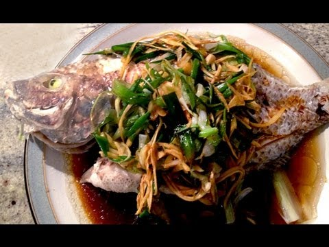 Chinese Steamed Whole Fish 姜䓤清蒸魚