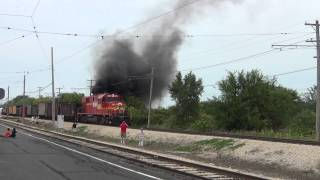 GBW 2407 Alco RSD15 puts on a show pulling IRM freight train