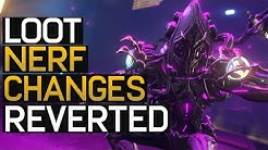 Warframe: Loot Farm Nerf Reverted - Mod Booster Changes
