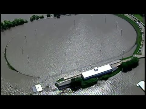 VIDEO: Flooding continues to plague Lakeside Speedway