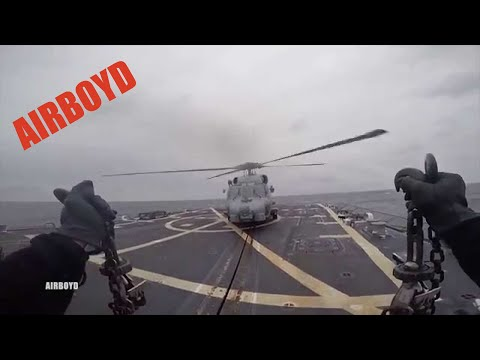 "MH-60R Seahawk Helicopter ""unchained"""