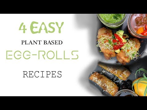 10 minute VEGAN EGG-ROLLS  || (4) Quick & Easy Plant Based Recipes