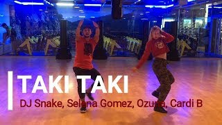 Video TAKI TAKI - ZUMBA - Dj Snake, Selena Gomez, Ozuna, Cardi B / Easy Dance Choreography download MP3, 3GP, MP4, WEBM, AVI, FLV November 2018