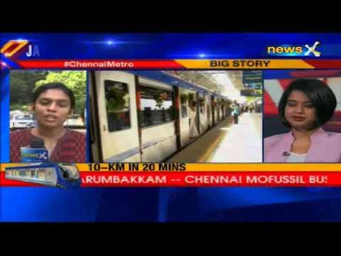 Jayalalithaa inaugurates Chennai Metro, DMK takes credit for bringing it
