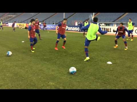 Official training FC Bunyodkor in King Fahd International Stadium