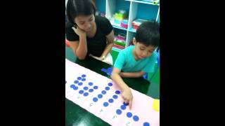 Zuhry mastering numbers 0 to 10 using cards and counters Montessori Method