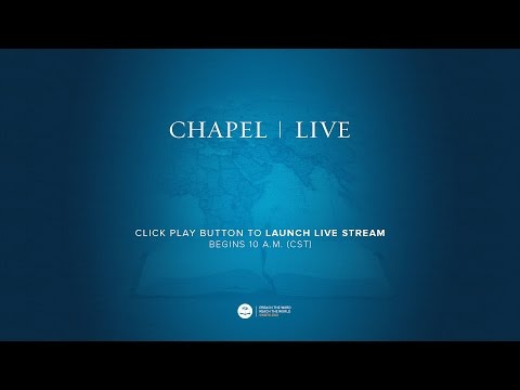SWBTS Chapel - Rev. Alan Robertson - Oct. 27, 2016