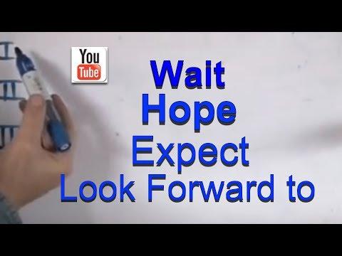 INGLÉS. 60- Wait, Hope, Expect, Look forward to. Inglés para hablantes de español