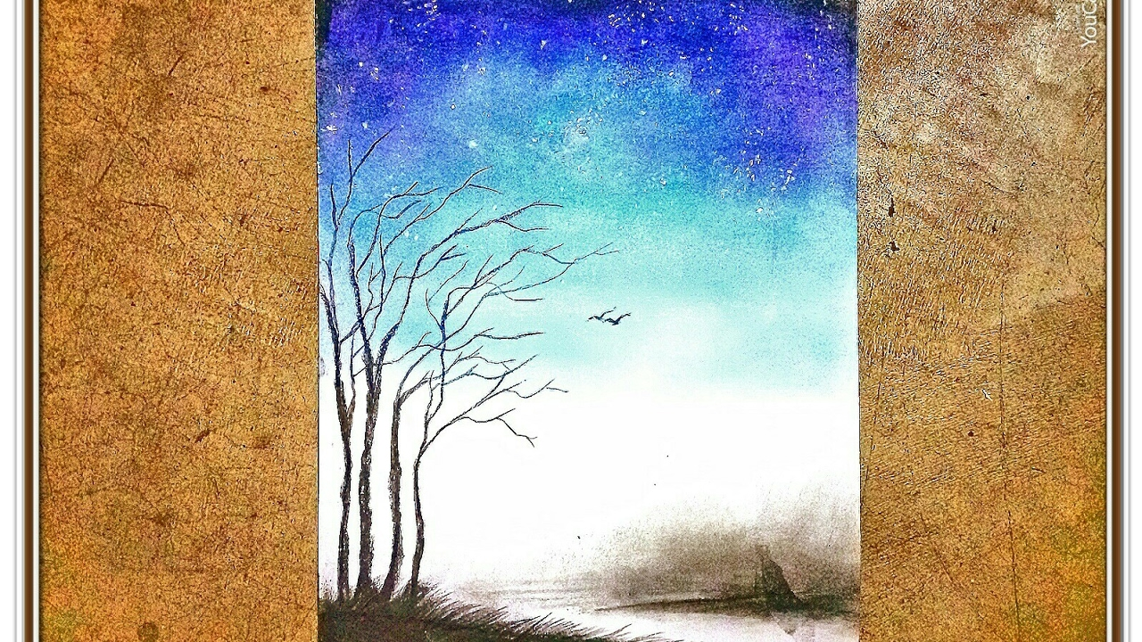 Drawing A Night Sky Soft Pastels Youtube