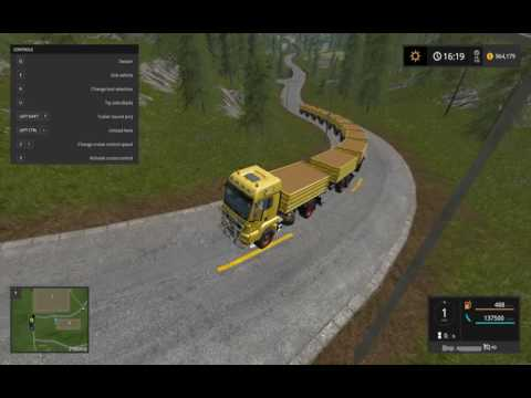 FS | 17 | Mods  GOLD CREST VALLEY BIG UP HILL ROAD TRAIN  MAN TGS 18.440 Tipper S