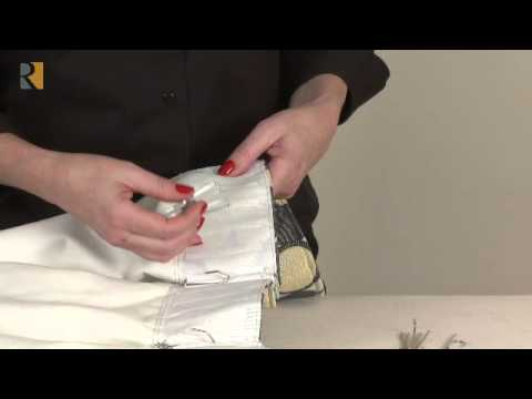 Deep Pleat Header Tape And 4 Prong Drapery Hooks Youtube