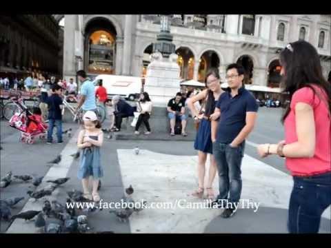Camilla ThyThy chơi đùa tại Milan (Ý) và dạy Papi nói tiếng việt