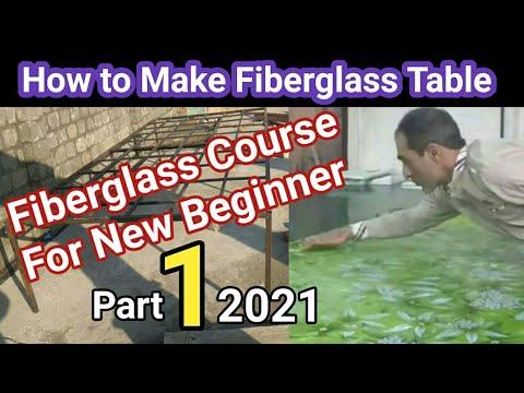 how to make fiberglass sheet making table for new beginner/Fiberglass Course