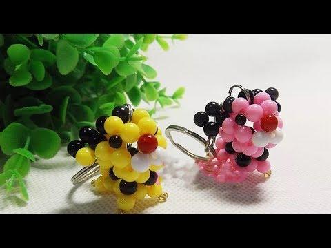 DIY Kawaii Bead Mini Tiger Keychain 水晶串珠教学  可爱的迷你小老虎挂饰