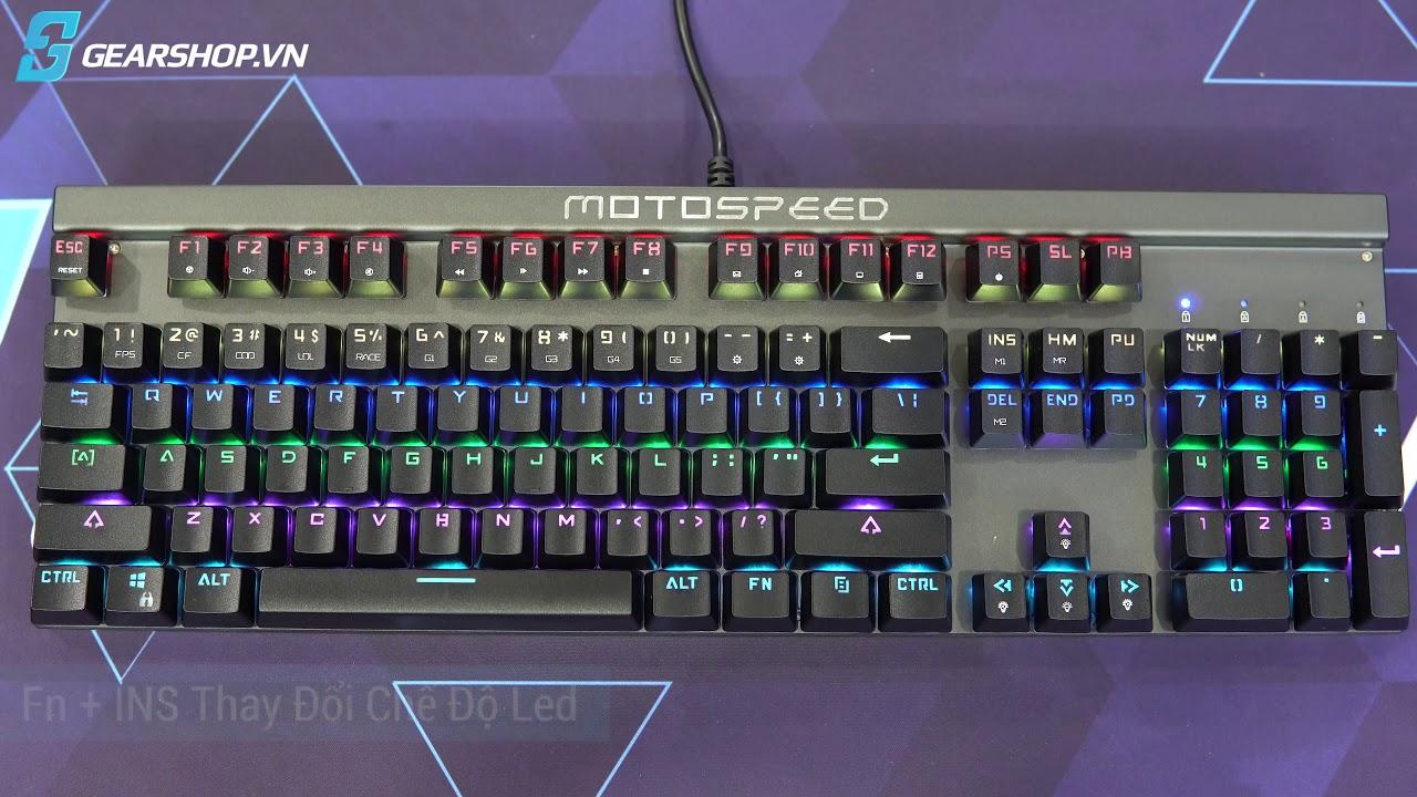 GEARSHOP.VN – Giới thiệu bàn phím cơ Motospeed CK103 RGB